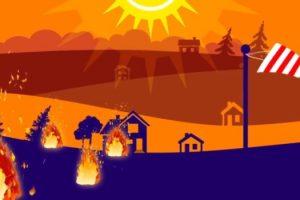 εστίες φωτιάς, ήλιος και ανεμοδούρι