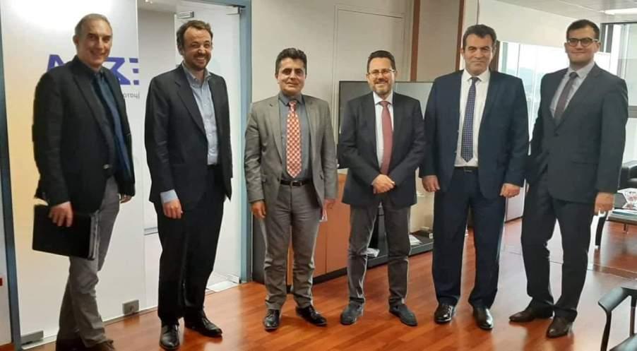 ΔΕΣΦΑ με τον Ανώτατο Εκτελεστικό Διευθυντή Nicola Battilana, τον Διευθύνων Σύμβουλο Fernando Kalligas και τον Διευθυντή Δραστηριοτήτων Διαχείρισης Έργων Ιωάννη Χωματά, Αντιπεριφερειάρχης, Βουλευτής Καστοριάς