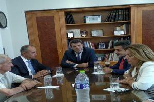 πρωην Δήμαρχος Χ. Σωτηριάδης, υφυπουργός κ. Καράογλου, Αντιπεριφερειάρχης Δ. Σαββόπουλος, ο Βουλευτής Ζ. Τζηκαλάγιας, η επικεφαλής του Γραφείου Πρωθυπουργού Μ. Αντωνίου, Πρόεδρος ΝΟΔΕ Β.Βελλίδης