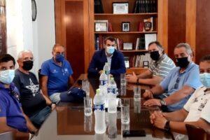 συνάντηση με μέλη της Ελληνικής Κωπηλατικής Ομοσπονδίας
