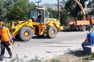 παρέμβαση σε αποκατάσταση δρόμου