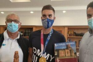 επίσκεψη Χρυσού Ολυμπιονίκη Στέφανου Ντούσκου